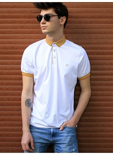 Rodrigo Erkek Düz Polo Yaka T-shirt Hardal